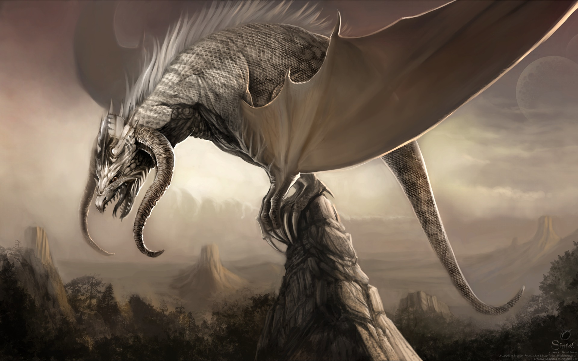 If I were a dragon ... I would look like this .. - Page 37 Sintel-wallpaper-dragon