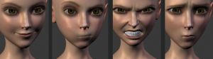 Sintel facial shapes test, screencaptures