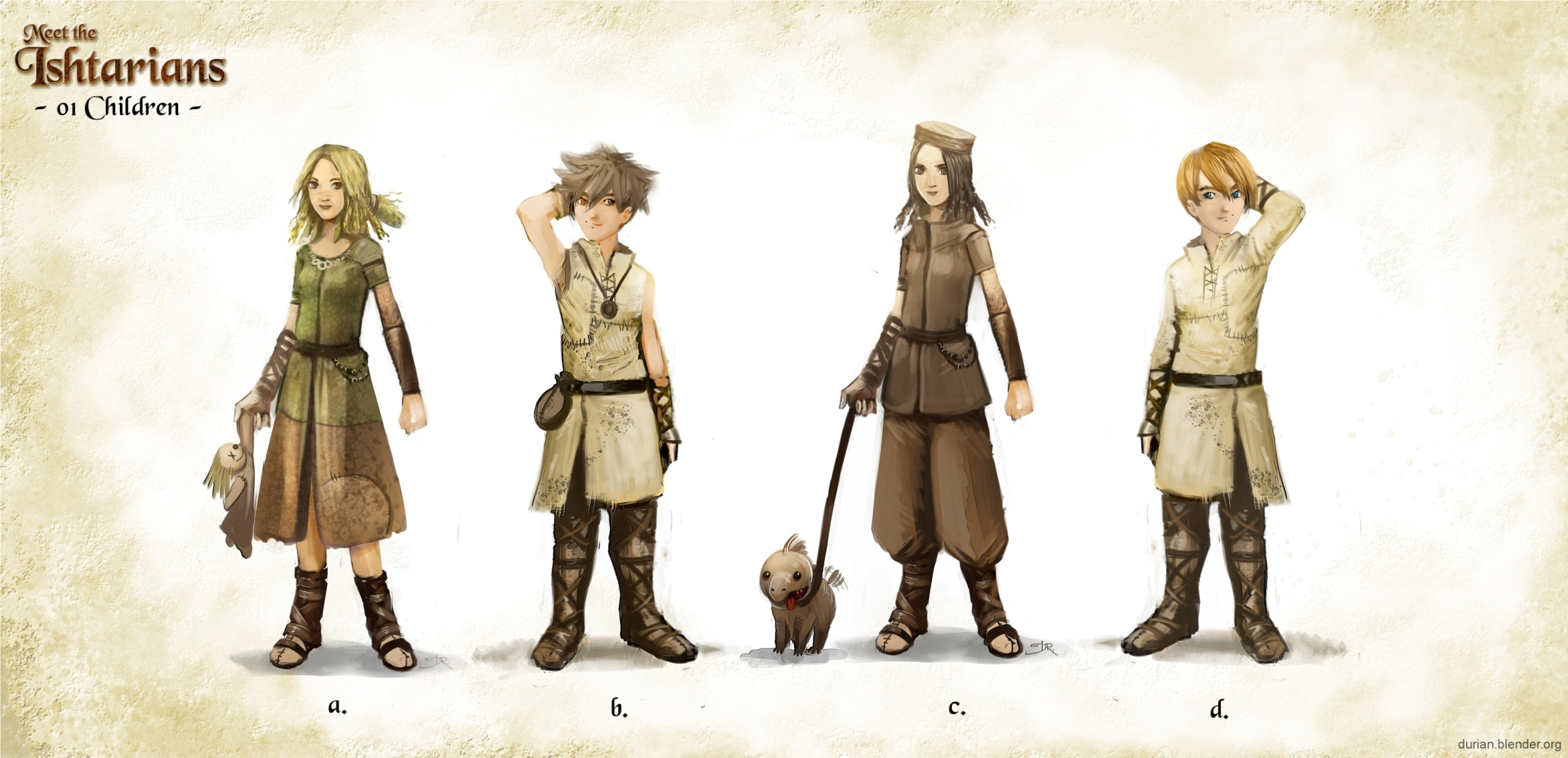 Character Design Using Blender : Sintel the durian open movie project archive