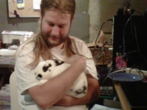 Nathan holding a cute bunny