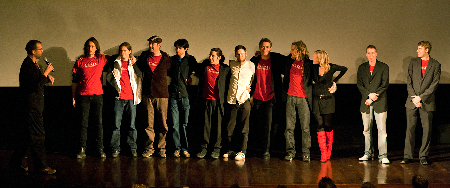 Создатели фильма «Sintel» на его премьере на фестивале «Netherlands Film Festival»